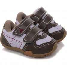 Tênis Infantil Bee Happy Baby Bee Branco e Taupe