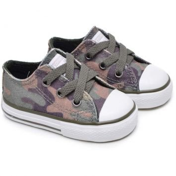 Tênis Infantil CT AS Specialty Camo Ox Verde Musgo Converse All Star