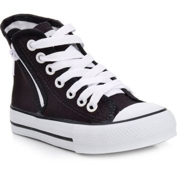 Tênis Zipper Preto e Branco Edge By South
