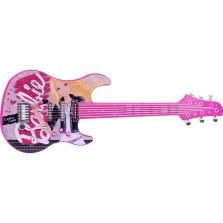 Guitarra Barbie Luxo Fun Divirta-se