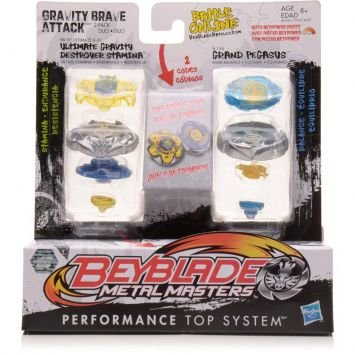 Beyblade de Batalha Confronto Ultimate Gravity Destroyer Stamina VS Grand Pegasus Hasbro