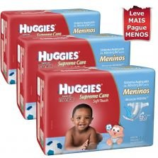 Kit Fraldas Supreme Care Masculino Huggies