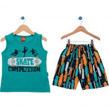 Conjunto Curto Kyly Skate Competition Verde