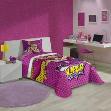 Edredom Barbie Super Princesa 150X200 Misto Pink Lepper