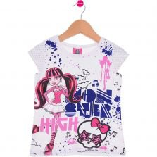 Blusa Infantil Malwee Monster High Branca