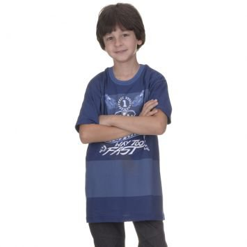 Camiseta Hot Wheels Azul Malwee