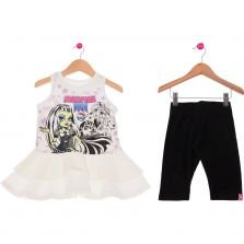 Conjunto Curto Infantil Sensation Malwee Monster High Branco