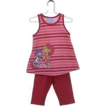 Conjunto Meia Malha Cotton Light Patati Patat Vermelho Malwee