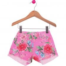 Short Malwee Casual Rosa Estampado