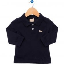 Polo Milon Casual Marinho Lisa