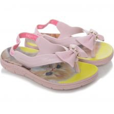 Chinelo Infantil Slim Ortopé Casual Baby Pink Liso