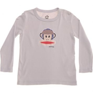Camiseta Julius Flap Hat LS Cinza Paul Frank