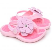 Chinelo Plugt Baby Floral Rose