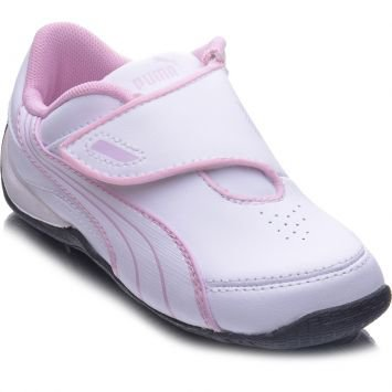Tnis  Drift Cat III New CL V Kids Branco e Rosa Puma