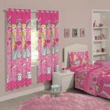 Cortina Barbie 180X280 Flower Rosa Santista