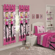 Cortina Barbie 180X280 Rock Pink Santista