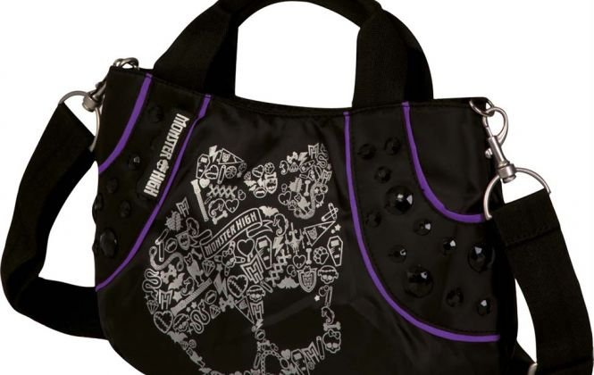 Bolsa Tiracolo Skullette Monster High 13T Preta Sestini