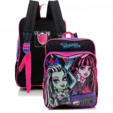 Mochila de Costas Sestini G 15M Plus Preto e Roxo Monster High